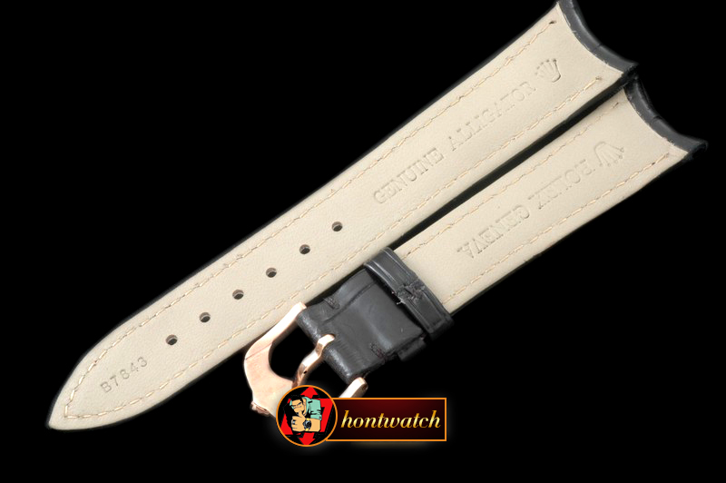 Replica Rolex Black Croc Strap RG 20/16/ New Insignia Buckle