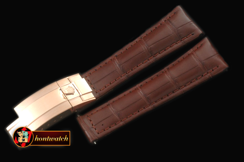 Replica Rolex Brown Croc Strap RG 20/16/ New Insignia Deployant