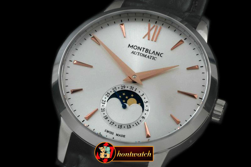 MB057A - Star Calendar Moonphase SS/LE White M-9105