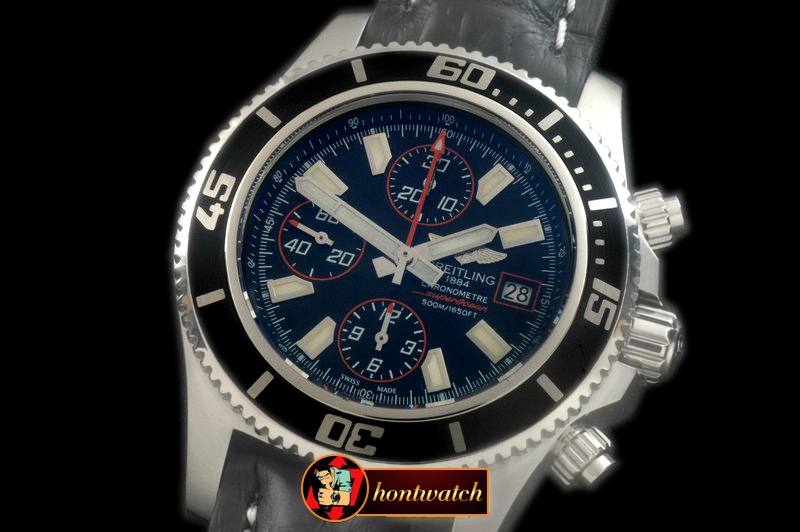 Best Replica Breitling Superocean Abyss 44 SS/LE Blk/Red A-7750