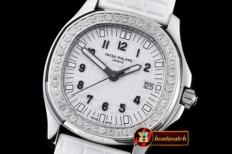 Replica Patek Philippe Aquanaut Ladies 5067A Diams Bez SS/RU Whi