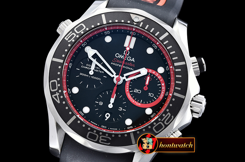 Omega Seamaster Chrono America Cup SS/RU Blk/Red BP A7750