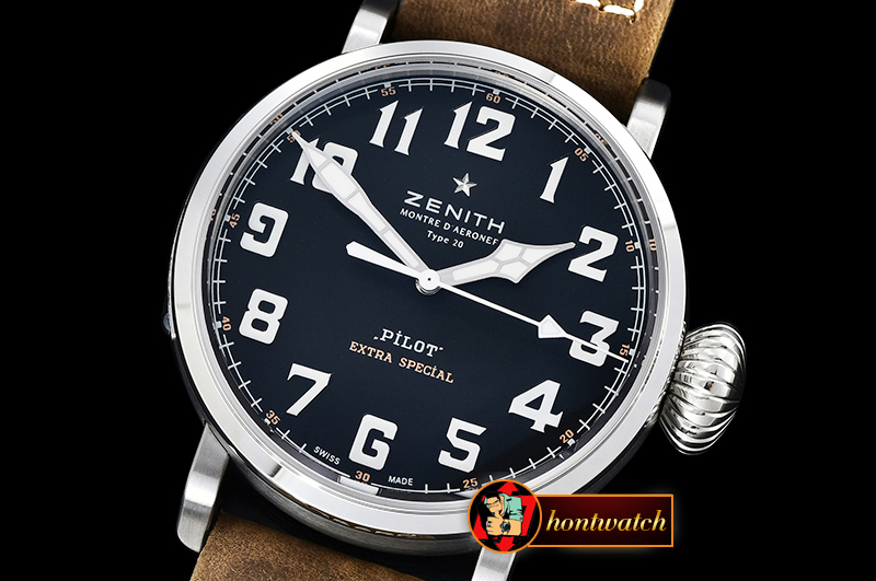 ZENITH Type 20 Pilot Extra Special SS/LE Black XF A2824 Mod