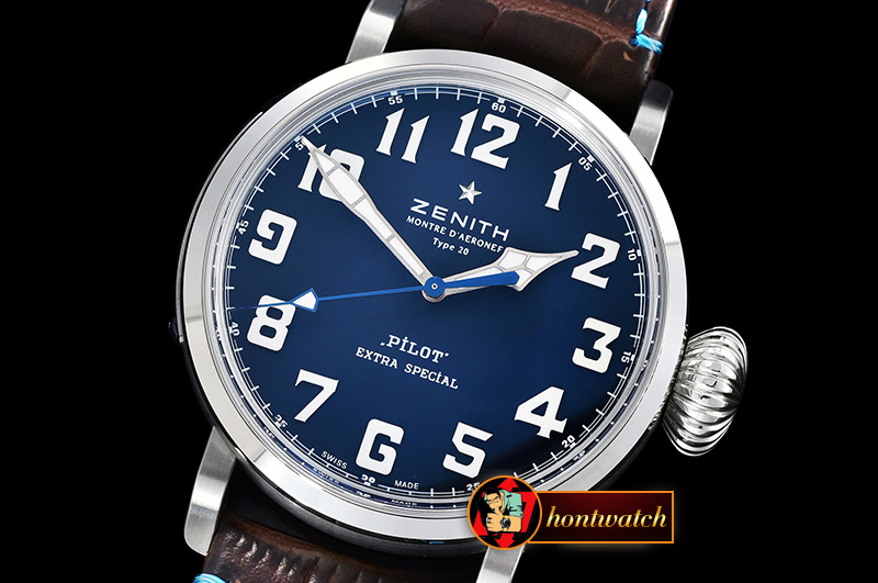 ZENITH Type 20 Pilot Extra Special SS/LE Blue XF A2824 Mod