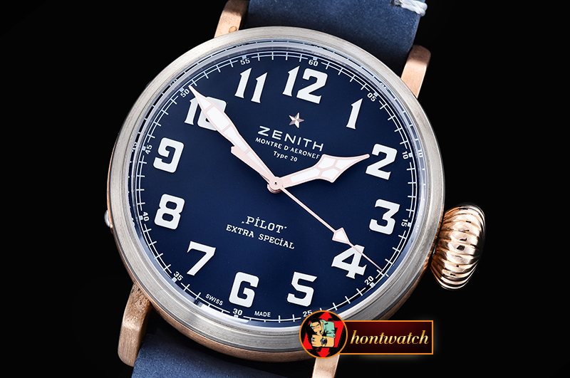 ZENITH Type 20 Extra Westime Ed BR/TI/LE Blue V6F A2824 Mod
