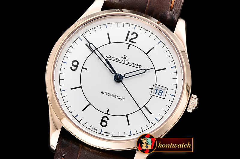 JAEGER LE COULTRE Master Control Date 2017 RG/LE White Miyota 90