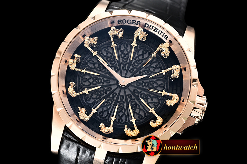 Roger Dubuis Knights of the Round Table II RG/LE Black Asia Seagull