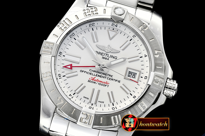 Breitling Avenger II GMT A3239011 SS/SS White GF A2836