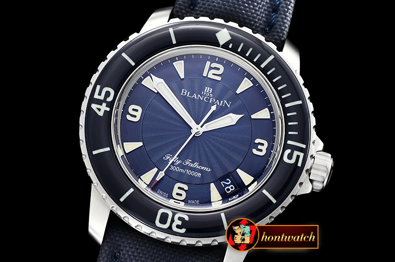 Blancpain Fifty Fathoms Blue SS/NY Blue ZF A2836