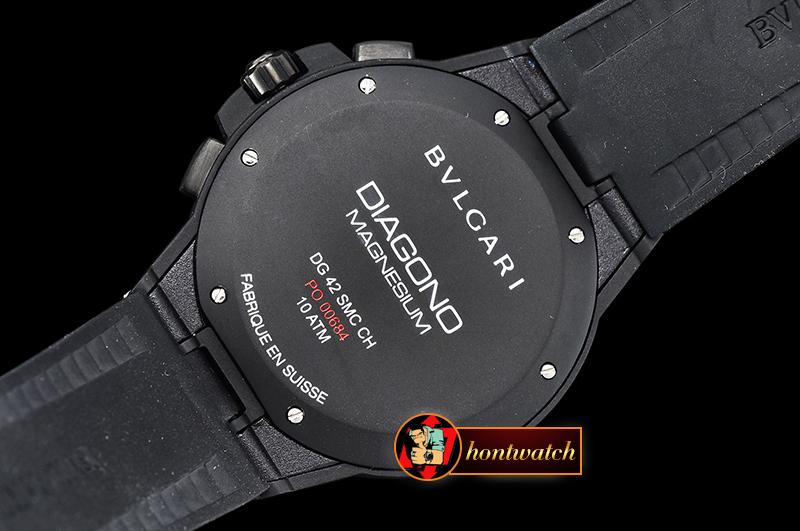 f85f0cf00b2 Bvlgari Diagono Magnesium Chrono PVD MG RU Black VK Qtz  BVG0063B ...