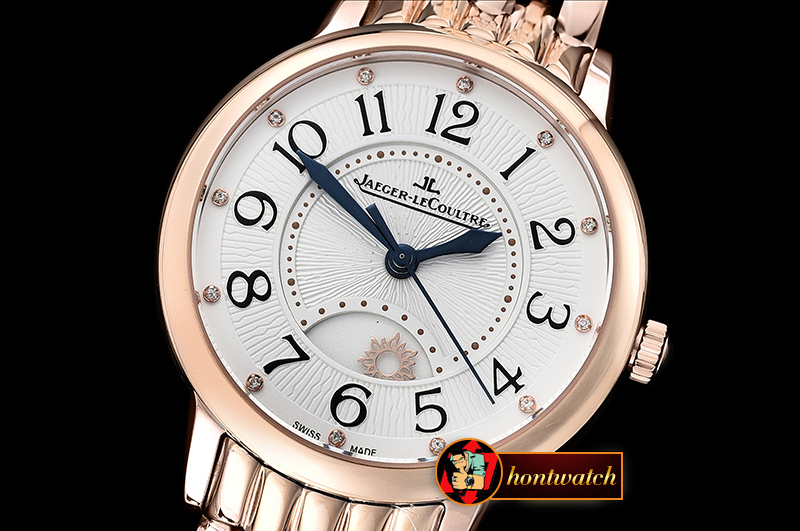 Jaeger Le Coultre Rendez-Vous Day/Night RG/RG White Diam MY9015 Mod