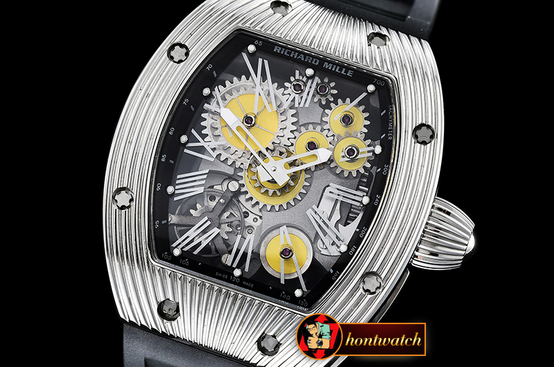 Richard Mille RM018 Tourbillon Boucheron SS/RU Yellow MY9015 Mod