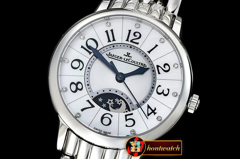 Jaeger Le Coultre Rendez-Vous Day/Night SS/SS White MOP MY9015 Mod