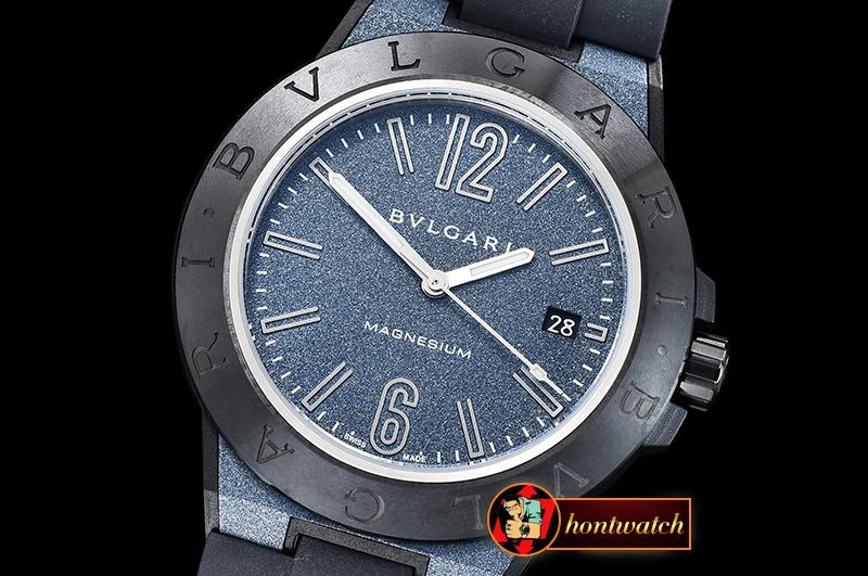 7ed7d7b3df6 Bvlgari Diagono Magnesium 41 MG PEEK Blue GF V2 Miyota 9015 ...