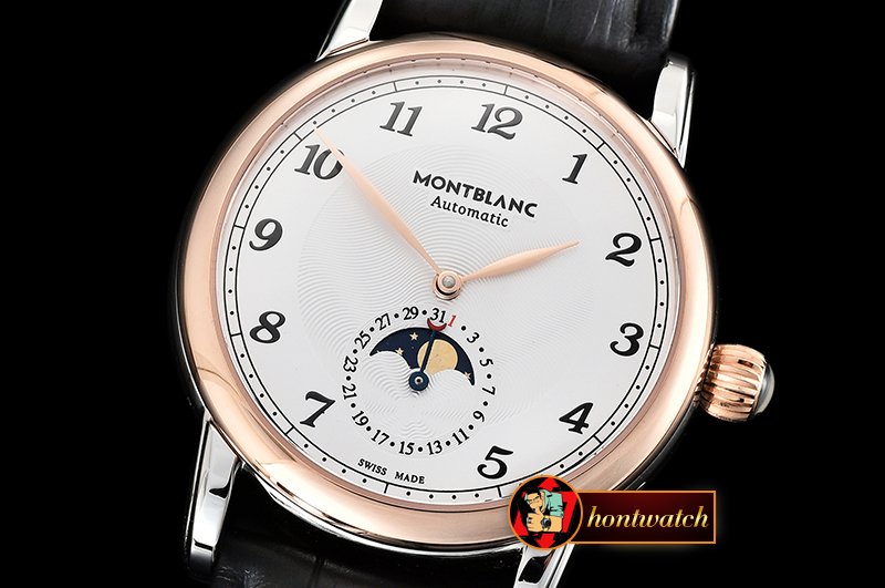 Montblanc Star Legacy MoonPhase 42mm RG/SS/LE White MY9015 Mod