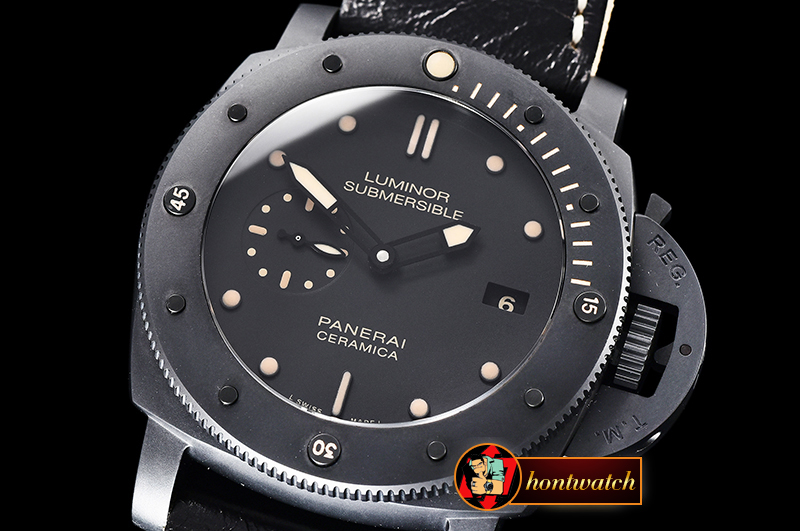 Panerai Luminor PAM508P Submersible 47mm CER/LE Blk VSF V3 P9000 Mod