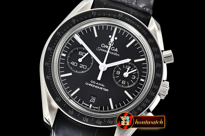 OMG0542C - SpeedMaster MoonWatch Wht SS/LE Blk JHF V2 A7750 9300