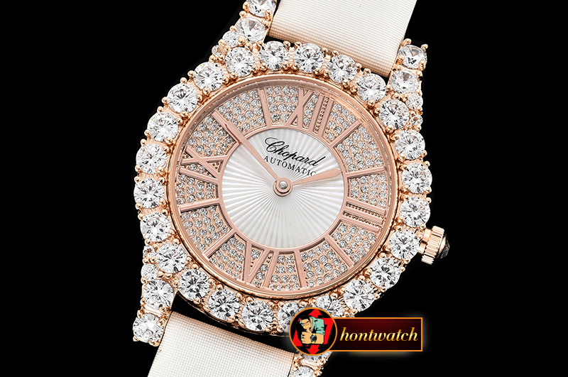 Chopard L'Heure Du Diamant Round RG/LE (White) Rose Gold MY9015