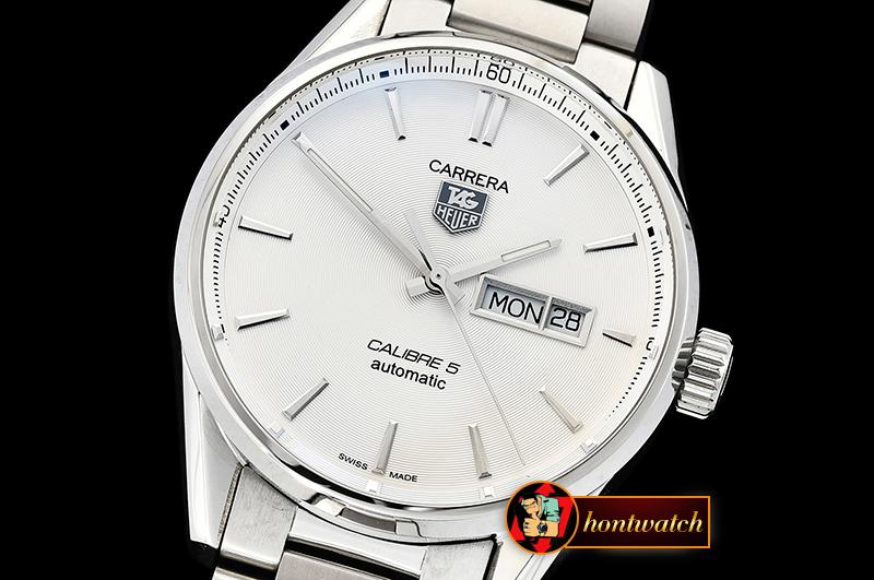 Tag Heuer Carrera Calibre 5 Automatic SS/SS White ANF Asia 2824