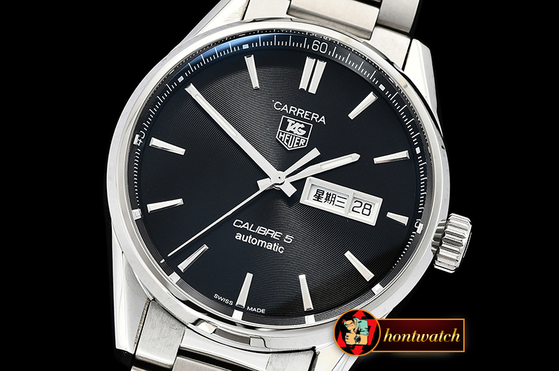 Tag Heuer Carrera Calibre 5 Automatic SS/SS Black ANF Asia 2824