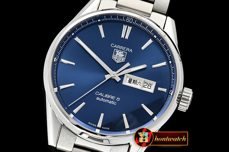 Tag Heuer Carrera Calibre 5 Automatic SS/SS Blue ANF Asia 2824