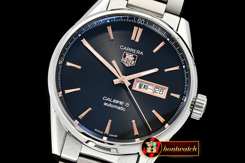 Tag Heuer Carrera Calibre 5 Automatic SS/SS Blk/RG ANF Asia 2824