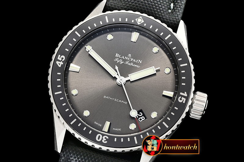 Blancpain Fifty Fathoms Bathyscaphe SS/NY Grey ZF Asia 23J