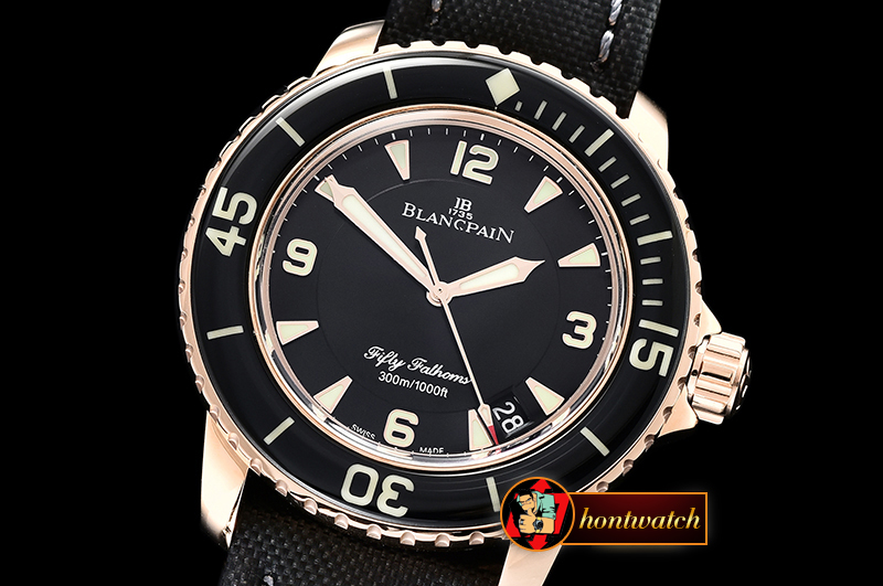 Blancpain Fifty Fathoms RG/NY Black ZF V2 Asia 2836