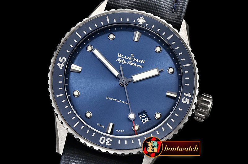 Blancpain Fifty Fathoms Bathyscaphe TI/NY Blue ZF Asia 23J