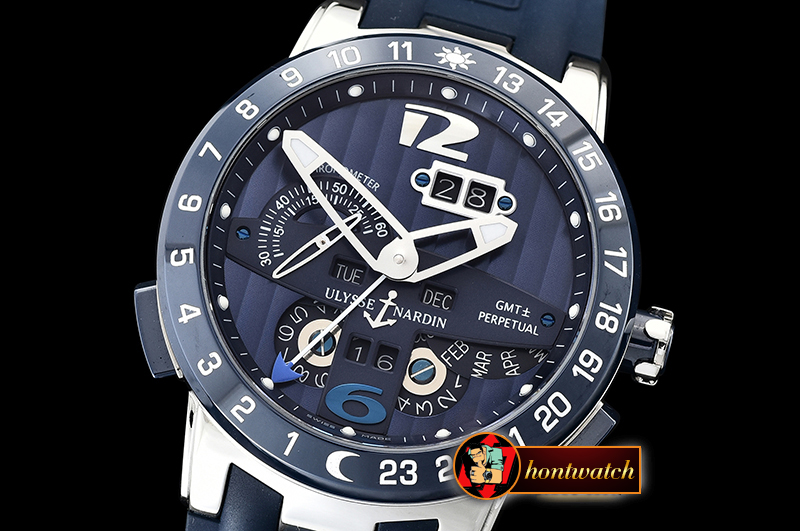 Ulysse Nardin Executive Toro 326-03 Automatic SS/RU Blue Asia 23J