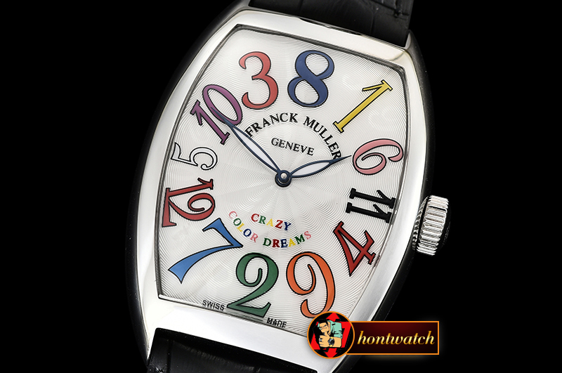 Franck Muller Crazy Hours Curvex Mens SS/LE White/Colors Asia 21J Mod