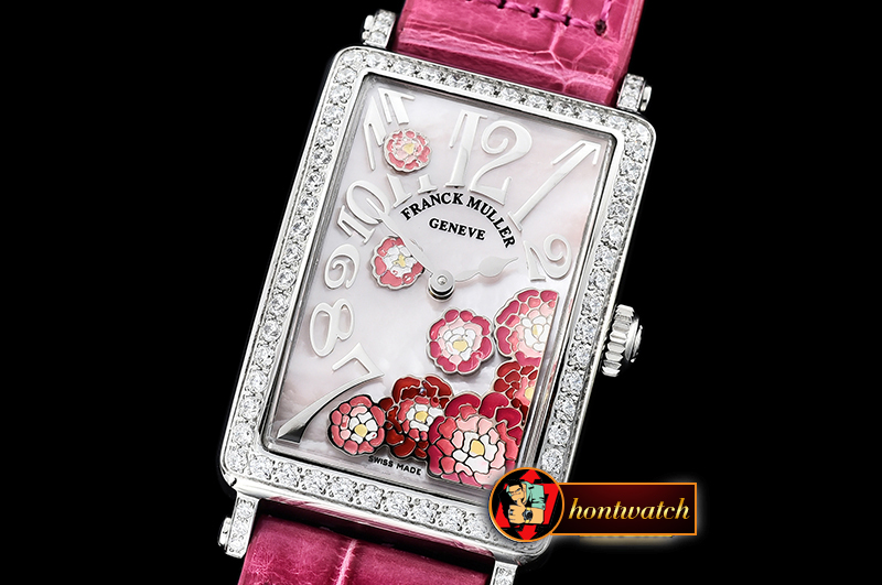 Franck Muller Long Island Peony DIAM/SS/LE (Red) Pink MOP Swiss Qtz