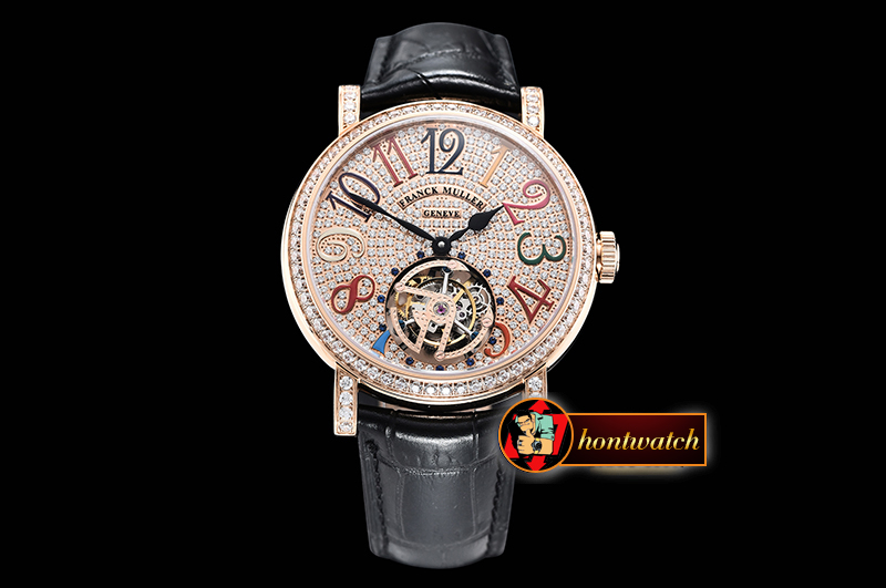 Franck Muller Ronde Color Dreams Tourbillon Diams RG/LE Diams Tourb