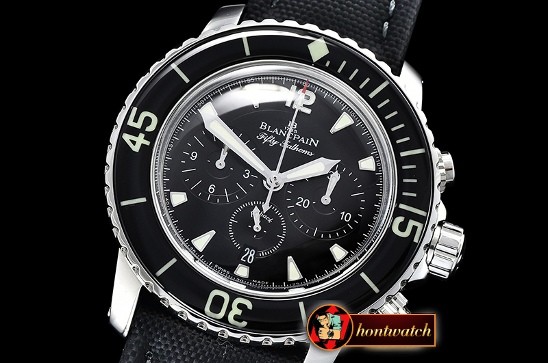 Blancpain Fifty Fathoms Flyback Chrono SS/NY Black OMF Asia 7750