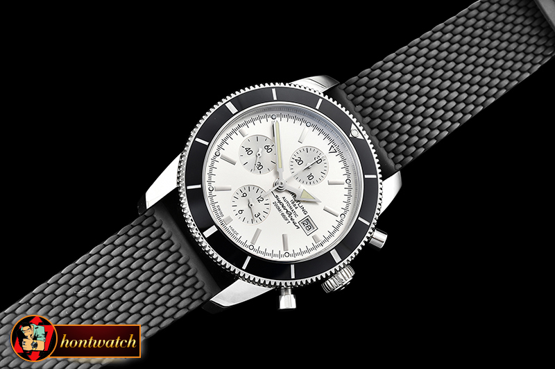 Breitling SuperOcean Heritage II Chrono SS/RU White/B OMF A7750 - Click Image to Close