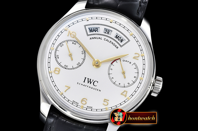 IWC Portugieser Annual Cal IW503502 SS/LE Wh/G YLF A52850