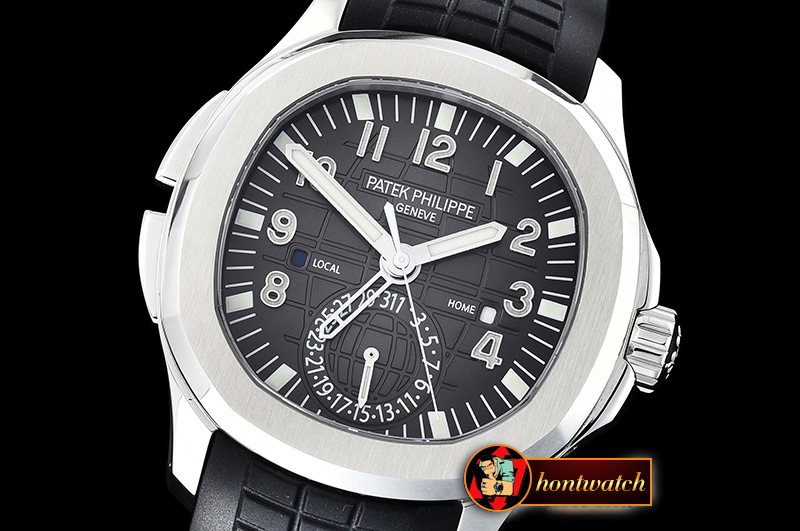 Patek Philippe Aquanaut Travel Time 5164A SS/RU Grey GRF MY9015 Mod
