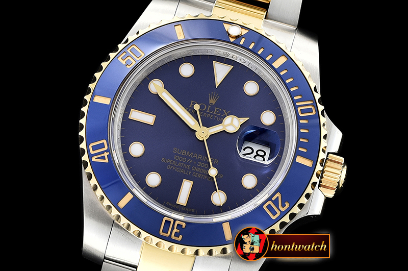 Rolex Submariner 116613LN 904L YG/SS Blue GMF SP A3135