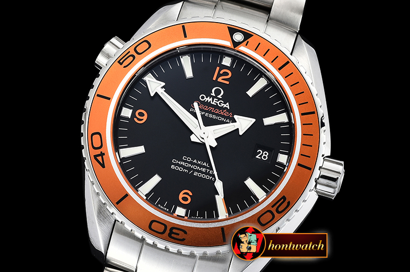 Omega Planet Ocean 45mm SS/SS Black/Org VSF 1:1 Asia 8500