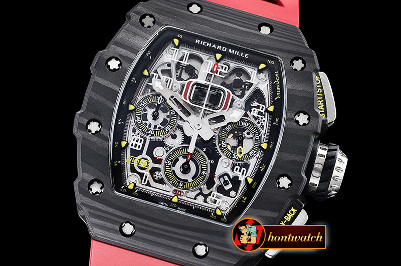 Richard Mille RM011-03 Flyback Chrono FC/RU (Red) KVF A7750 Mod